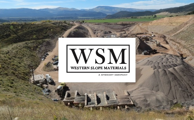 WSM logo on aggregate pit background